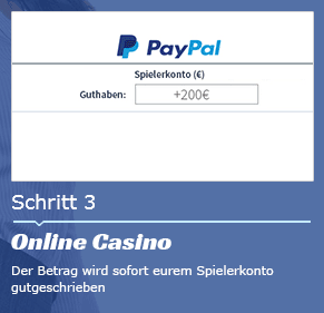 Mit Paypal im Online Casino einzahlen schritt 3