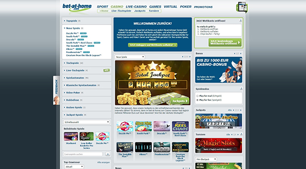 bet at home paypal casino uebersicht