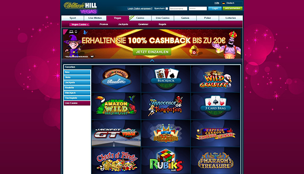 paypal casino williamhill uebersicht