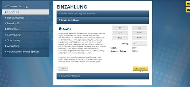 Casino Paypal Einzahlung