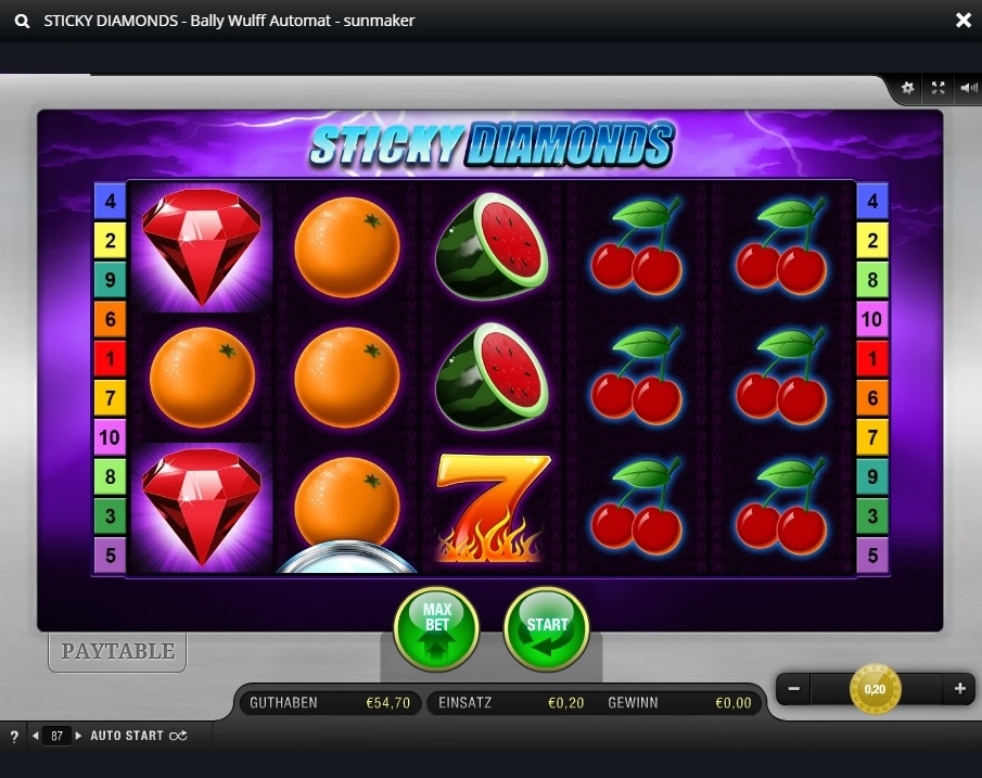 bally wulff online casino sticky diamond übersicht