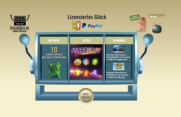 drückglück paypal casino übersicht