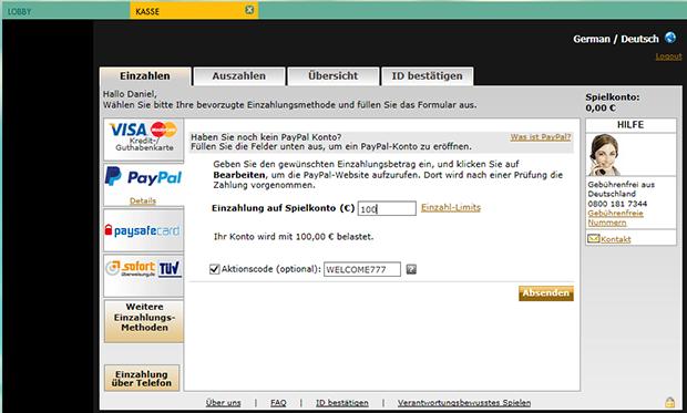 paypal casino 777 deposit 2