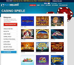 paypal casino playmillion spielauswahl