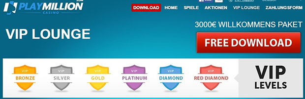 paypal casino playmillion vip lounge