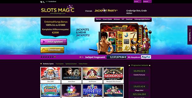 paypal casino slotsmagic übersicht
