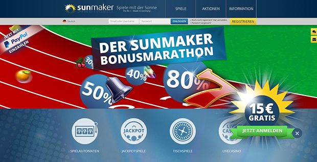 sunmaker online casino play roulette now