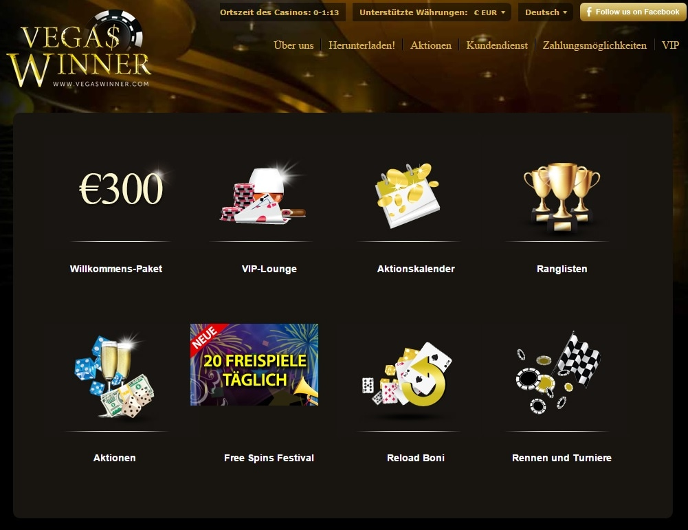 paypal casino vegas winner promotions