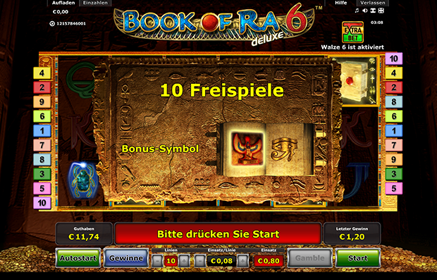 Bestes online casino book of ra