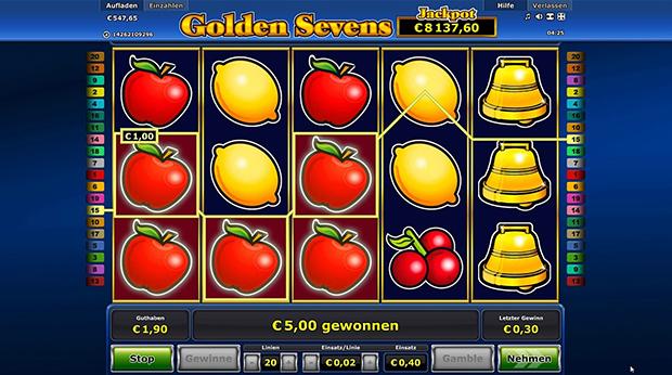 golden sevens im paypal casino gewinn