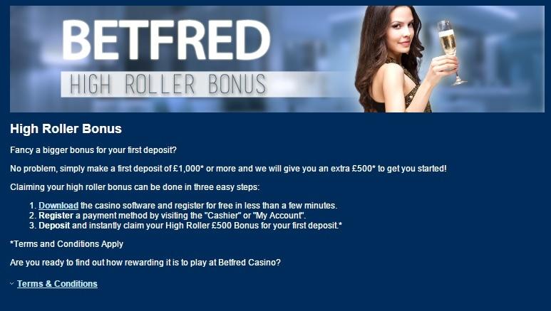 paypal casino betfred highroller bonus
