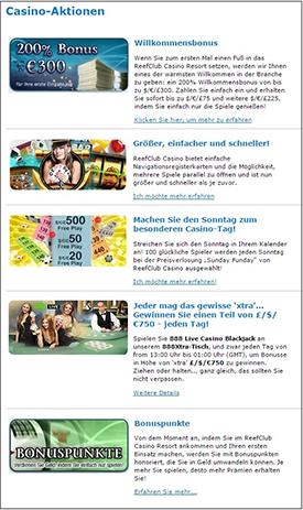 reefclub paypal casino aktionen