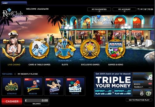 reef club casino online