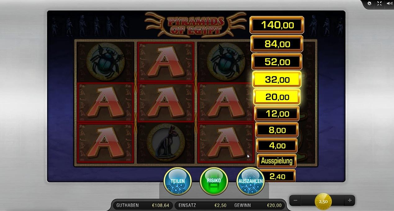 Pyramids of Egypt Spielautomat - Spielen Sie Online gratis