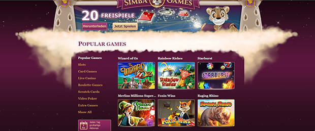 simba games paypal casino spielauswahl