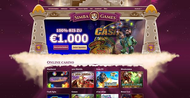 simba games paypal casino uebersicht