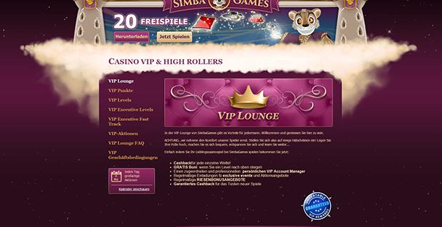 simba games paypal casino vip angebot