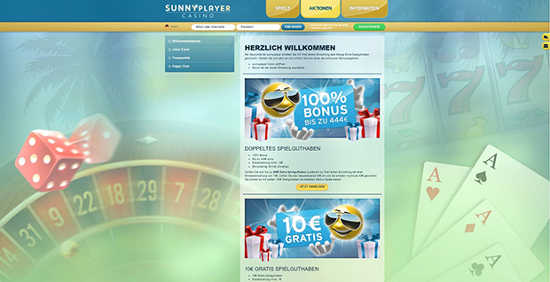 sunnyplayer paypal casino aktionen