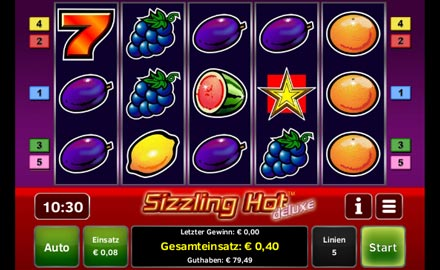 das beste online casino sizzling hot games