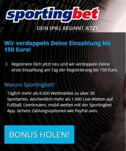 Sportingbet sportwetten paypal casino Bonus