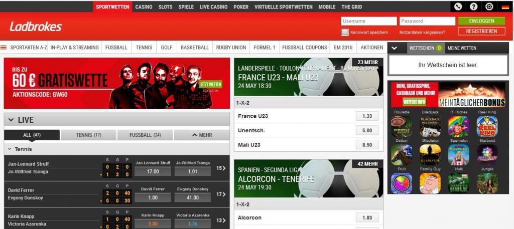 Ladbrokes sportwetten paypal casino Startseite