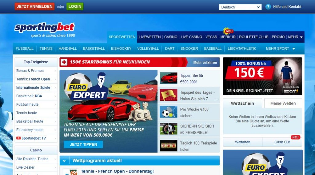 Sportingbet sportwetten paypal casino Startseite