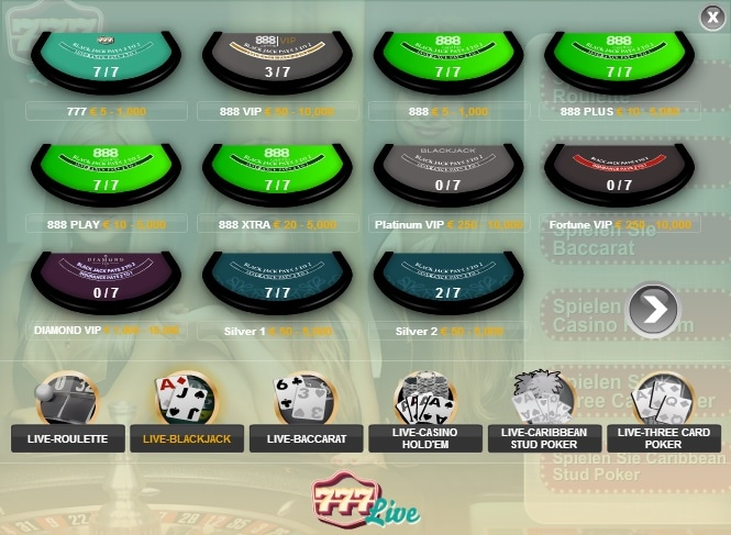 black jack paypal casino site overview