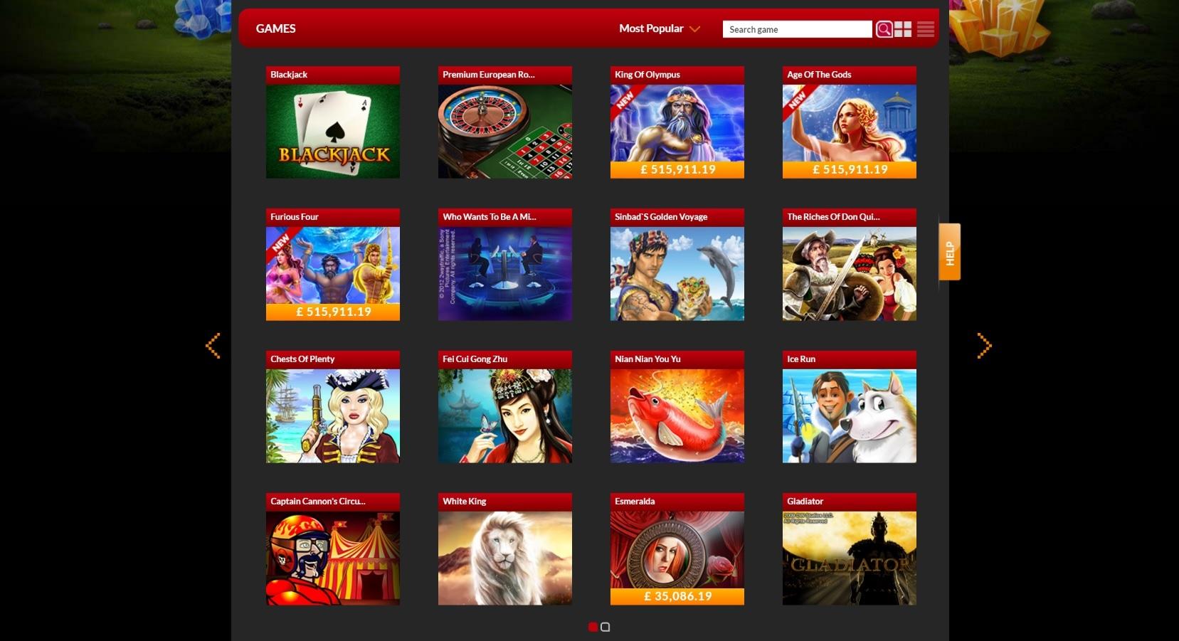 paypal casino site 21nova games
