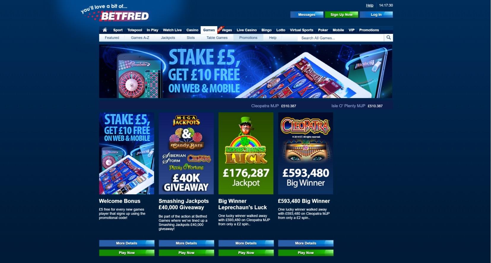 paypal casino site betfred bonus