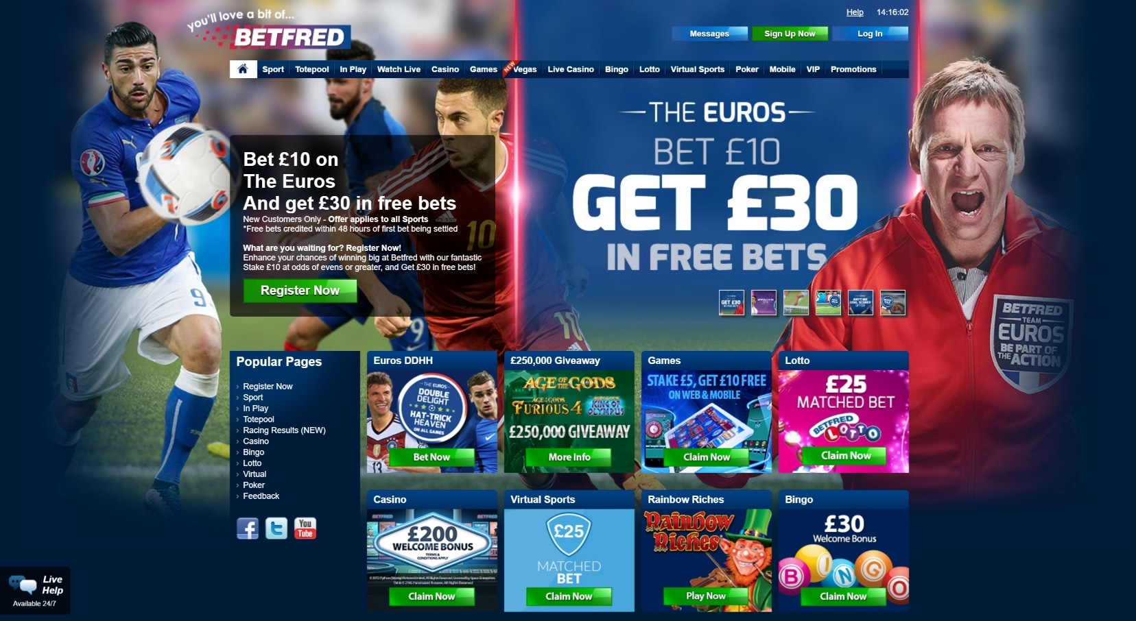 paypal casino site betfred overview