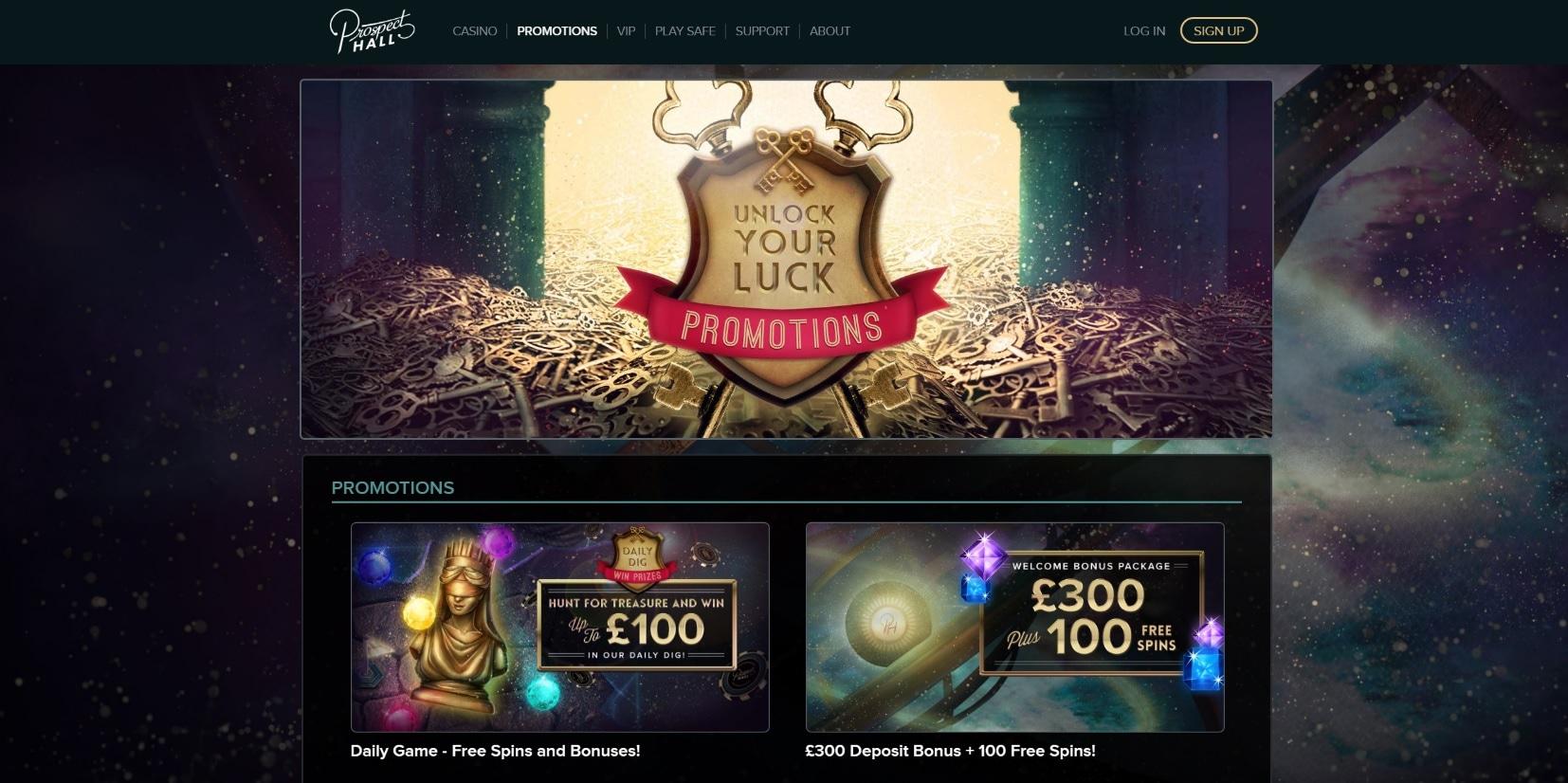 paypal casino site prospect hall bonus