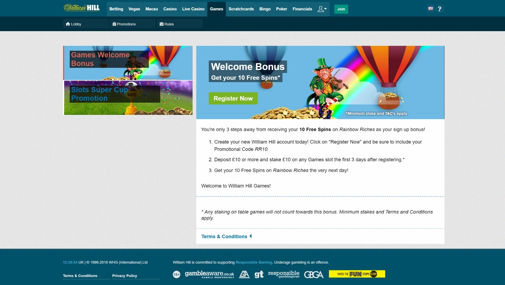 William hill casino bonus terms and conditions gambling online with debit card