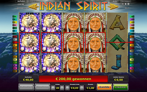 indian spirit im novoline paypal casino gewinn