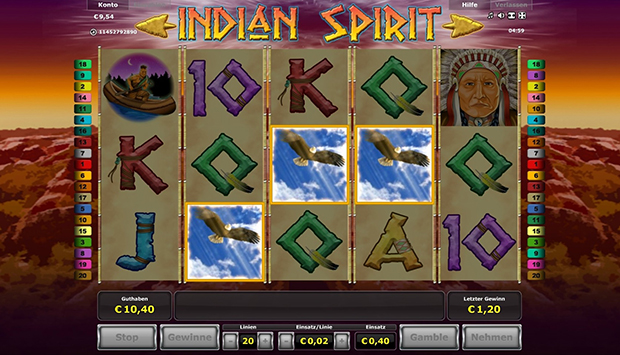 novoliner indian spirit freispiele