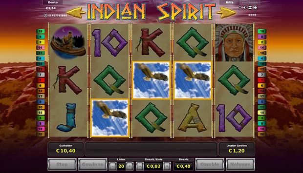 novoliner indian spirit freispiele