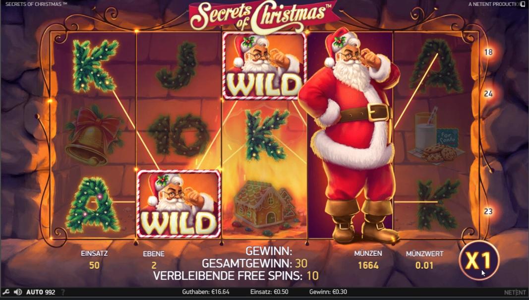 Neue Weihnachts Slot von NetEnt \