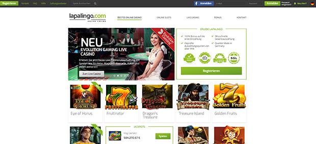 Lapalingo PayPal Casino Startseite