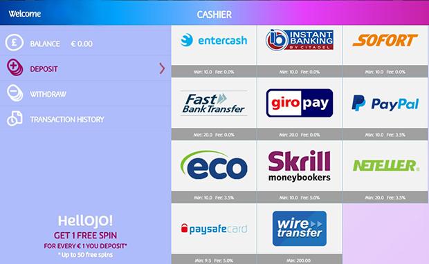 playojo Einzahlung PayPal Online Casino