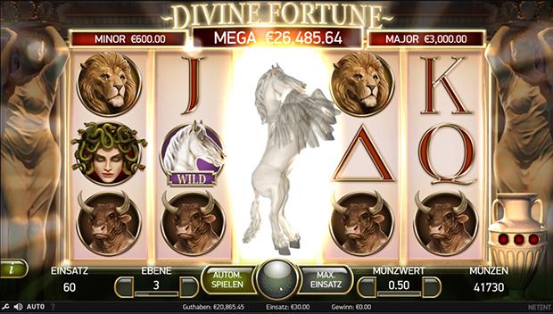 netent paypal casino divine fortune random feature