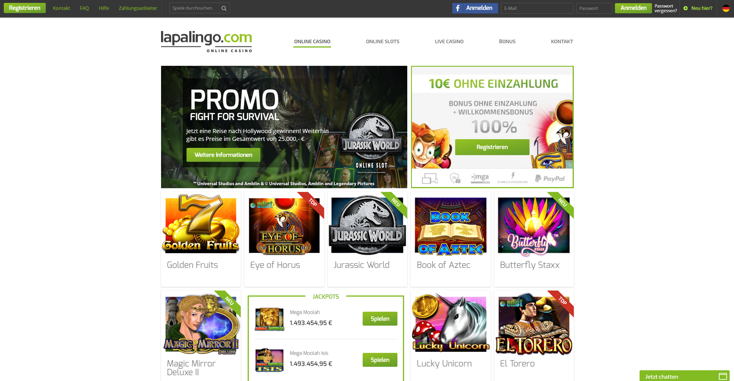 Lapalingo-Casino-Übersicht