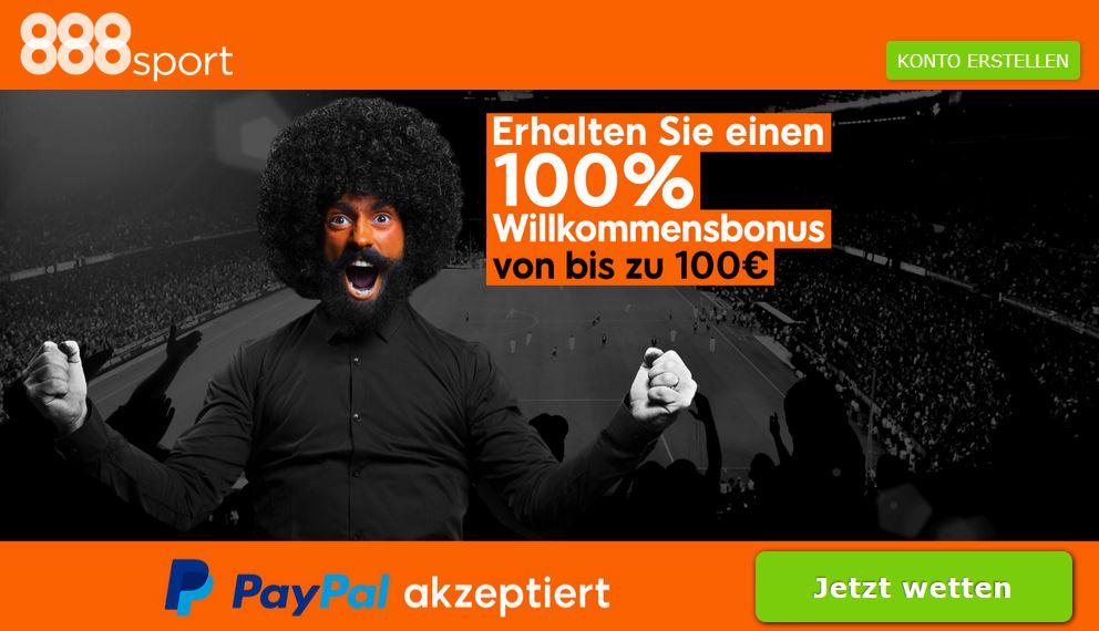 Sportwetten PayPal 888 Bonus