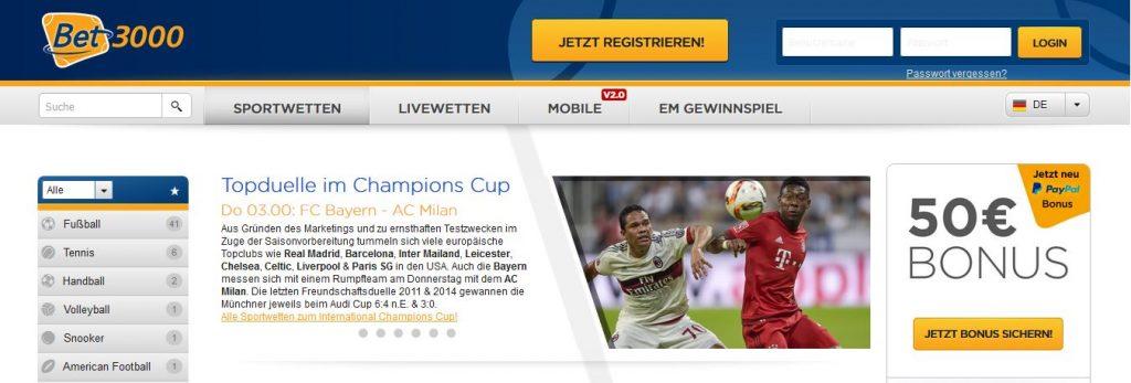 Sportwetten Online Paypal