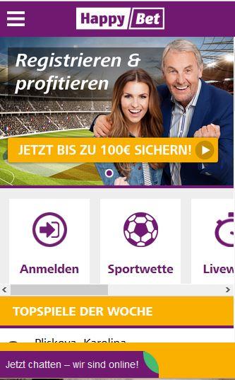 Sportwetten PayPal HappyBet Smartphone