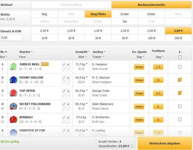 Sportwetten PayPal Racebets Wettschein
