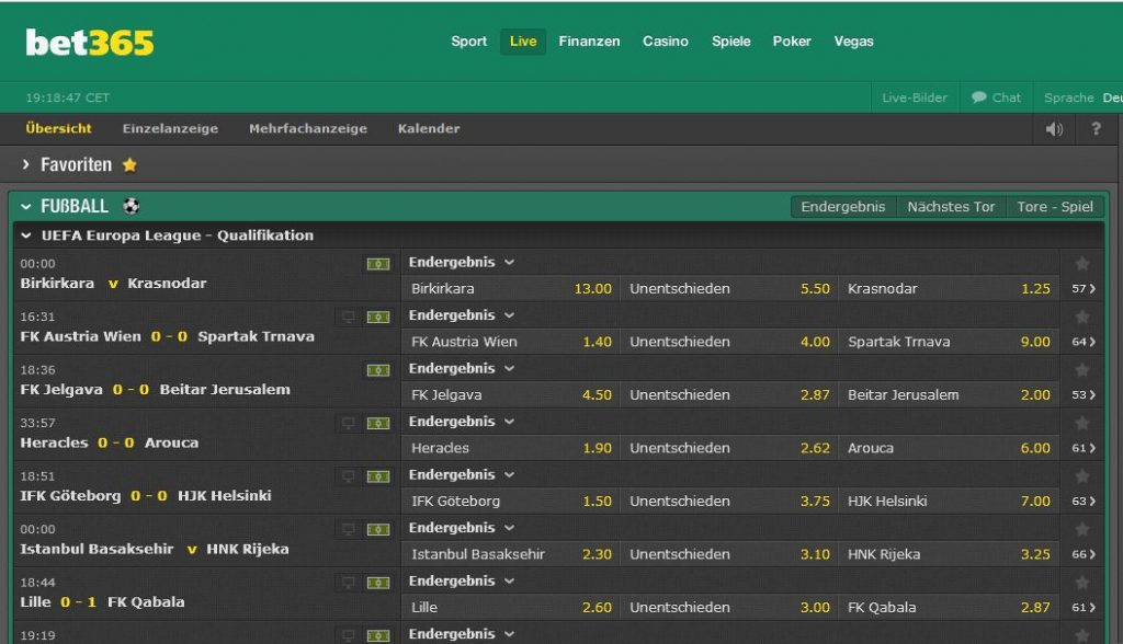 Sportwetten PayPal bet365 Livewetten