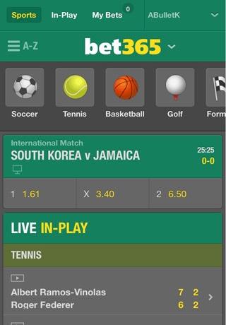 Sportwetten PayPal bet365 Smartphone