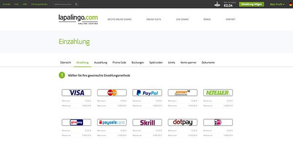 lapalingo-einzahlungsmethode