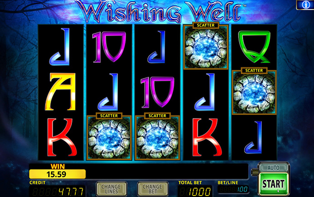 wishing well paypal casino scatter