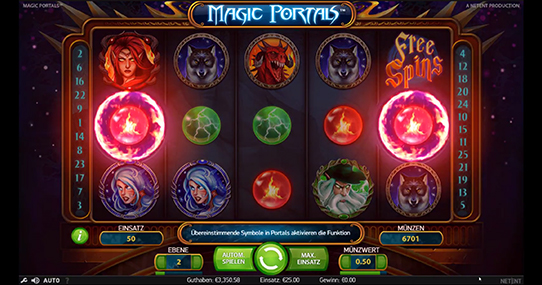 magic portals von netent spin