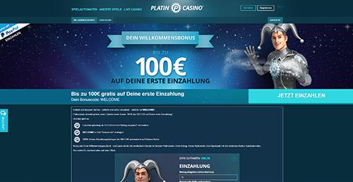 platin paypal online casino aktionen